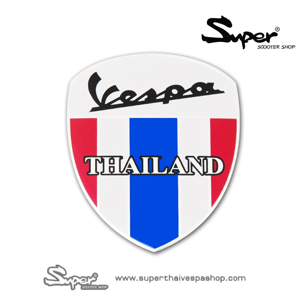 THE SILVER VESPA THAILAND BADGE