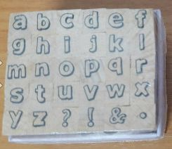 Stamp11 Alphabet stamp set ACB