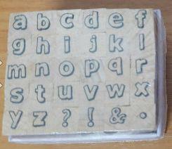 Stamp11 Alphabet stamp set ACB