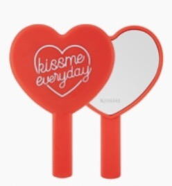 kissme everyday heart hand mirror (red)