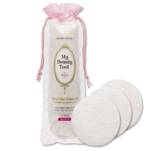 Etude house my beauty tool Round clear cotton pad