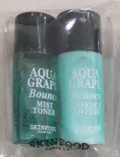 Skinfood Aqua Grape Bounce mist toner 5ml+essence lotion5ml