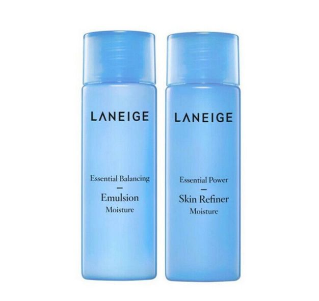 Laneige essential moisture skin25ml +emulsion 25ml