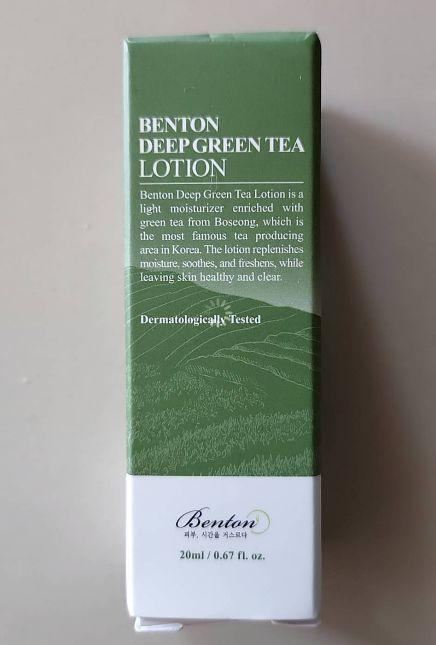 Benton Deep Green Tea Lotion 20ml