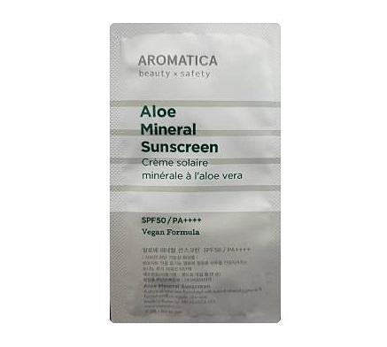 AROMATICA Aloe Mineral Sunscreen SPF50/PA++++ 3mlx3ea