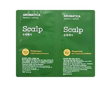aromatica  Rosemary Scalp Scaling shampoo 3ml+conditioner 3ml *9ea