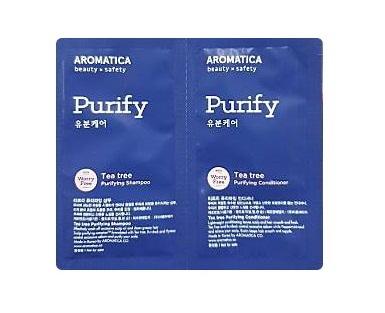 aromatica tea tree purifying shampoo 3ml+conditioner 3ml