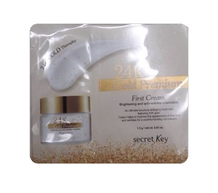 Secretkey 24K Gold premium First cream 1mlx5ea