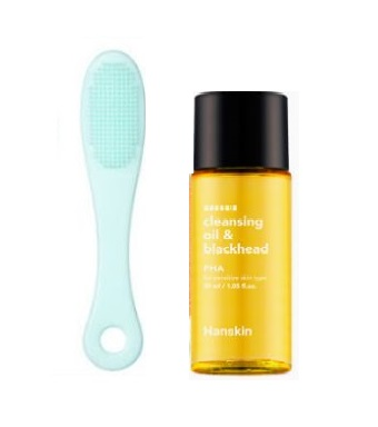 Hanskin Cleansing Oil & Blackhead PHA 30ml+brush