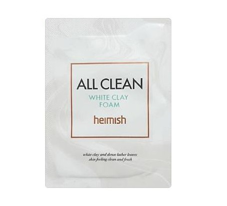 heimish All Clean white clay foam 2ml x 6ea