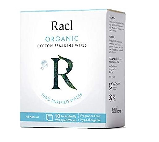 Real Rael Organic Cotton Feminine wipes #cleansing with water
