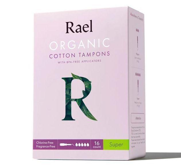 Rael Organic Cotton tampons #super 16count