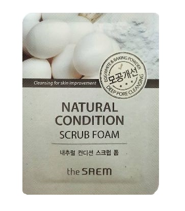 the Saem Natural Condition scrub foam 1ml*2ea