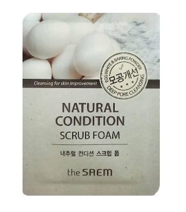 the Saem Natural Condition scrub foam 1ml*2ea