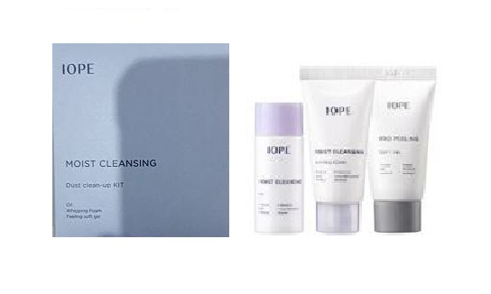 IOPE Moist Cleansing Dust clean-up Kit 3items