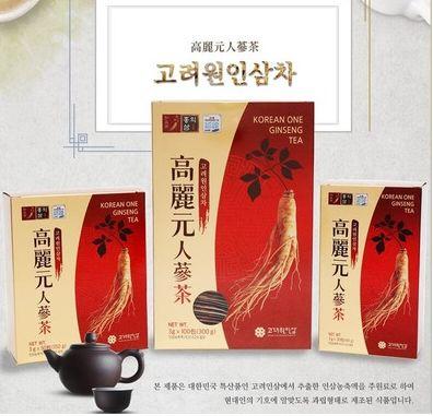 [고려원인삼] Korean One Ginseng tea 100ซอง