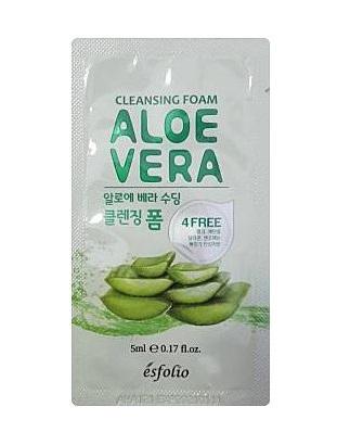 esfolio Aloe Vera Soothing cleansing foam 5ml*2ea
