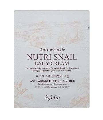 esfolio anti wrinkle Nutri snail daily cream 3g*2ea