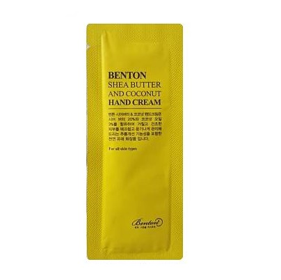 Benton Shea butter and coconut hand cream 1ml*10ea