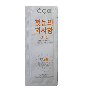 ECO With Natural suncream SPF30/PA++ 1g*4ea