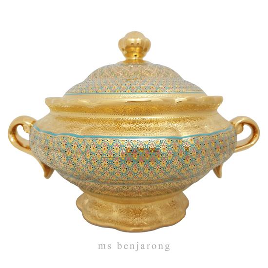 Rice Bowl   Benjarong   Gold