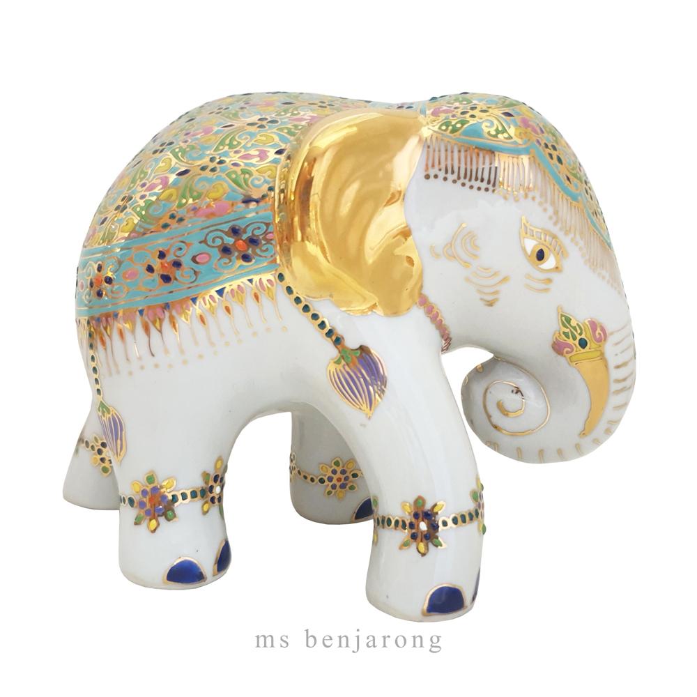 """ช้าง 3.5"""" เบญจรงค์"""