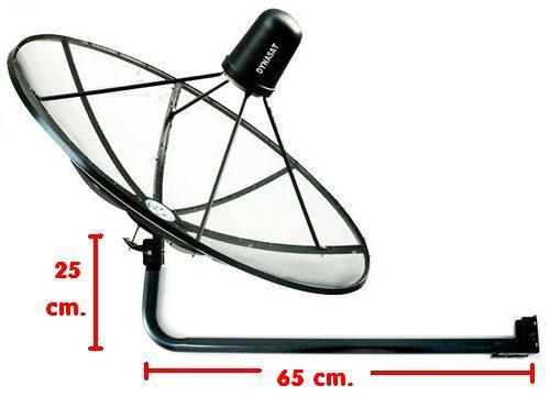 เสาตั้งจานC-Band ติดผนัง (แบบยาว) 75cm.