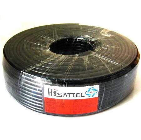 สายRG6 HISATTEL 64% 100ม. สีดำ