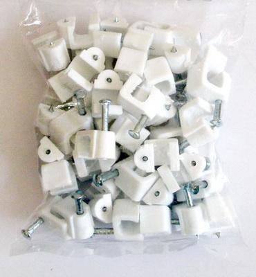 กิ๊ปตอกสาย RG6 ถุงเล็ก 50ตัว สีขาว