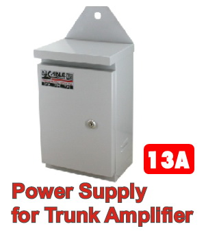 Power Supply for Trunk Amp CABLE 13A, 63V