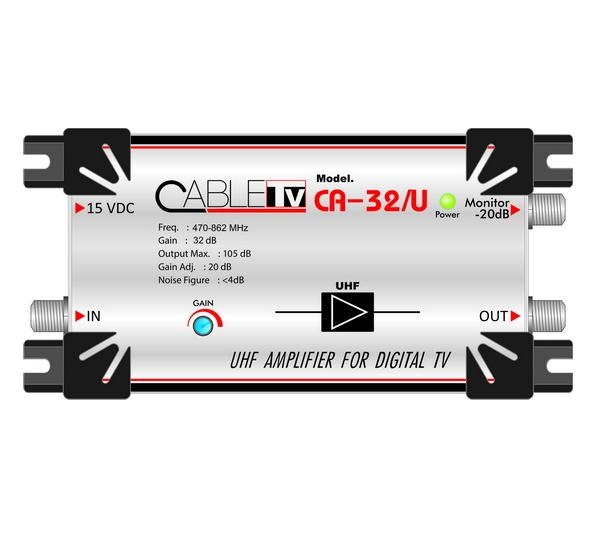 Amp Digital Booster  Cable (UHF) 32dB