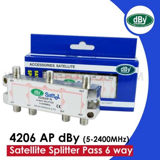Satellite Splitter dBy All Pass 6 way  รุ่น 4206 AP dBy