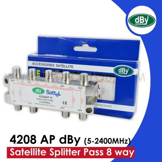 Satellite Splitter dBy All Pass 6 way  รุ่น 4208 AP dBy