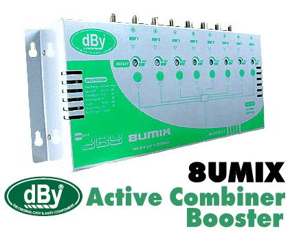 Active Combiner Booster dBy รุ่น 8UMIX