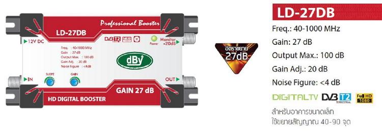 HD Digital Booster dBy Gain 27dB