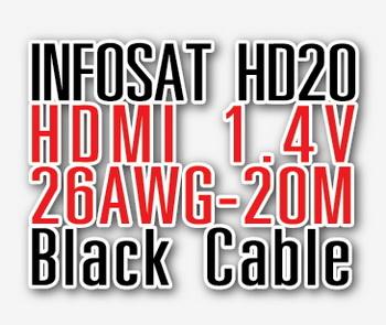 สาย HDMI CABLE INFISAT ยาว 20m version1.4 High-Speed