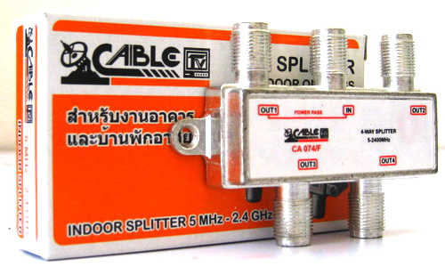 Indoor Splitter CABLE 4way รุ่น CA 074/F