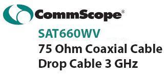 สายนำสัญญาณ(สายเคเบิ้ล) RG-6U Commscope ชีลล์ 60% ความยาว 305 เมตร สีขาว