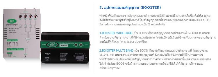 อุปกรณ์ขยายสัญญาณ (BOOSTER)