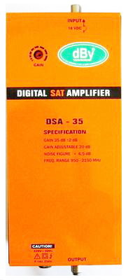 L-BAND Digital Sat Amplifier dBy 35dB รุ่น DSA-35