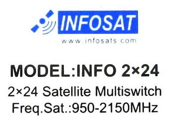 มัลติสวิตช์ Multi Switch INFOSAT 2x24 รุ่น INFO 2x24 (เข้า 2 ออก 24)