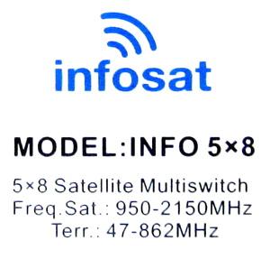 มัลติสวิตช์ Multi Switch INFOSAT 5x8 รุ่น INFO 5x8 (เข้า5 ออก8)