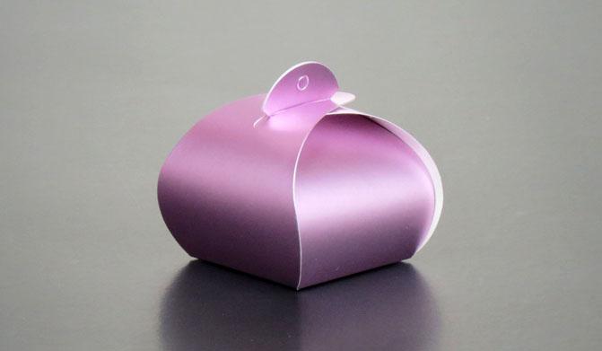 BK011 กล่องโค้งเล็ก สีม่วง