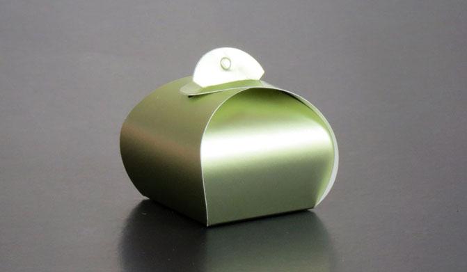 BK012 กล่องโค้งเล็ก สีเขียว