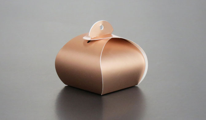 BK013 Small Portial Box: Gold