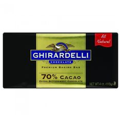 70% Ghirardelli Bar Baking 113 g