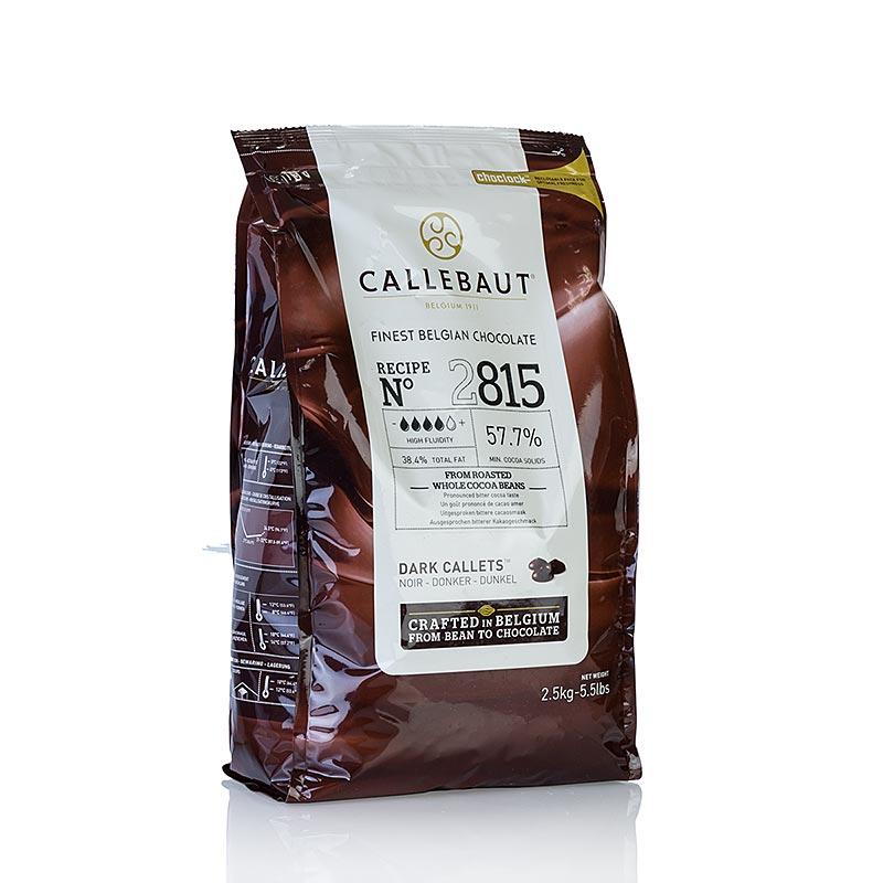 Dark Couverture 57.7% :Callebaut 2.5 กก.