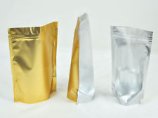 2301 Laminated Stand Bag: Clear Front with Gold Back 16*23.5 cm@50