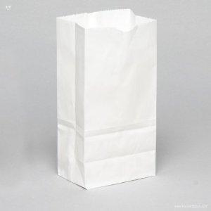 8372 White Stand Paper Bag 13*8*22 cm@100