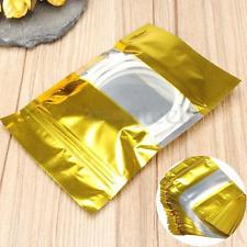 2306 Laminated Stand Bag: Gold Front with Window 16*23.5 cm@50